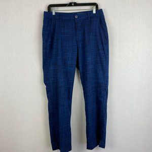 UNDER ARMOUR Solid Pattern Blue Pant